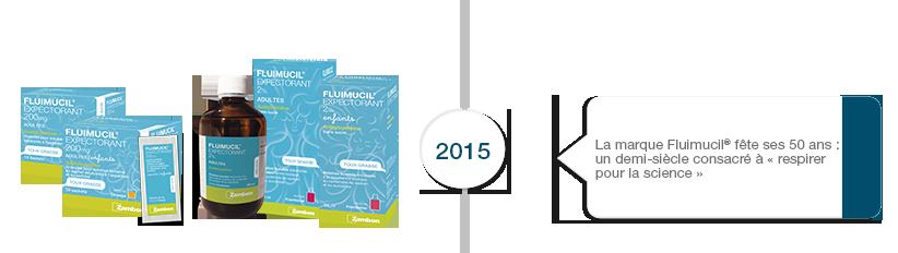 2015 Fluimucil fête ses 50 ans