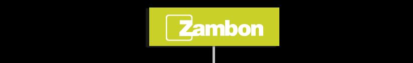 Logo Zambon sur fond vert